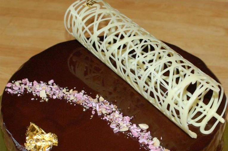 Шоколадна трубочка | Декор торта