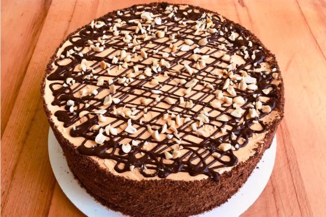 Оформлення торту (декор) простий - класичний | Торт Грецький горішок