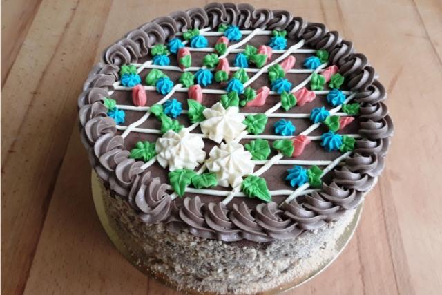 Оформлення торту (декор) простий - класичний | Торт Київський