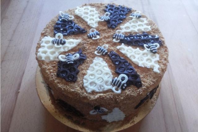 Оформлення торту (декор) простий - класичний | Торт Медовик