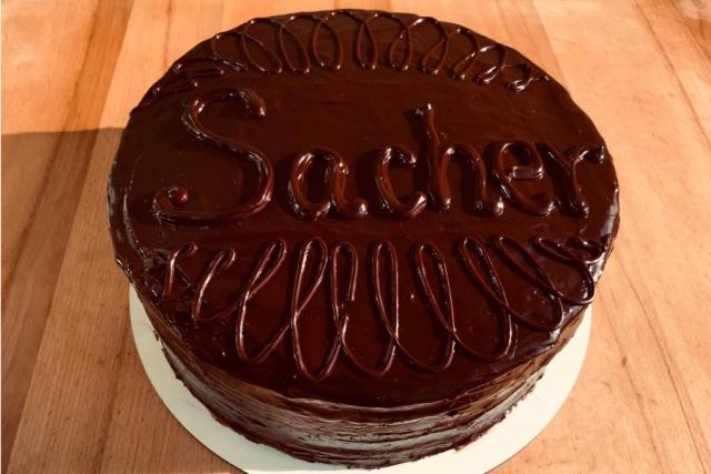 Оформлення торту (декор) простий - класичний | Торт Захер