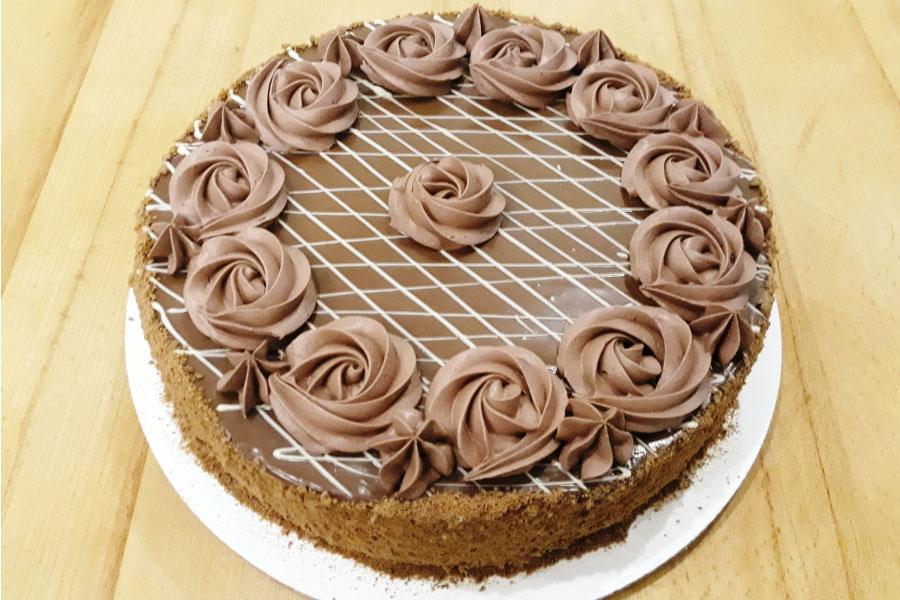 Оформлення торту (декор) простий - класичний | Торт шоколадний
