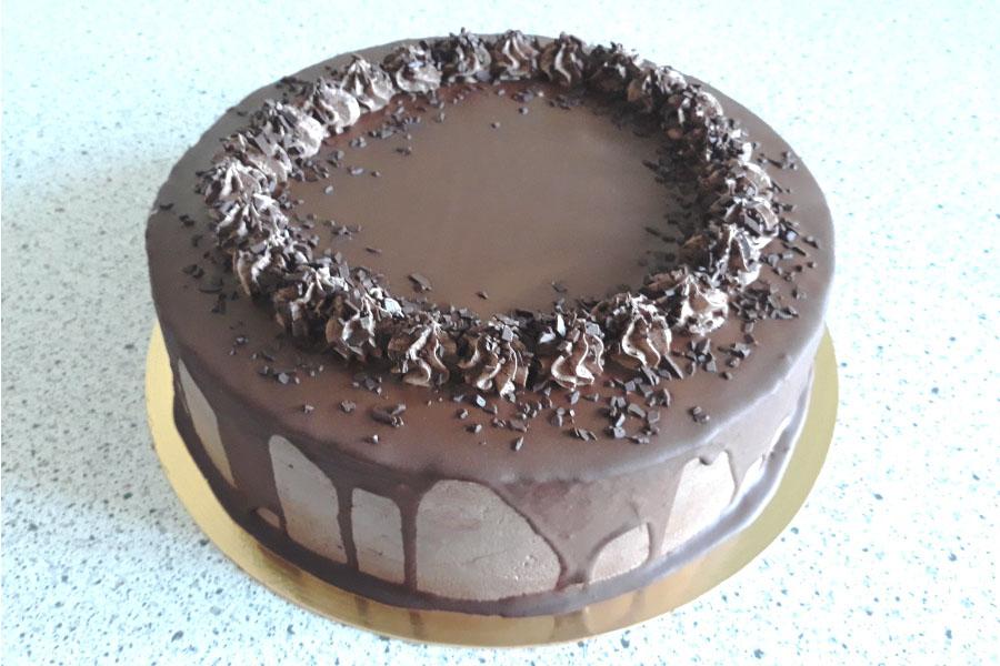 Оформлення торту (декор) простий - класичний | Торт шоколадний 2