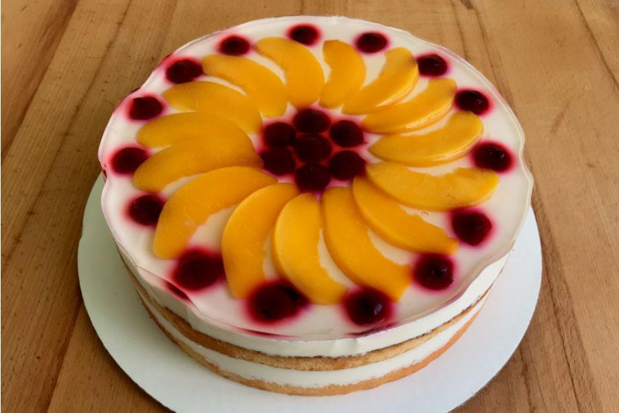 Оформлення торту (декор) простий - класичний | Торт творожний