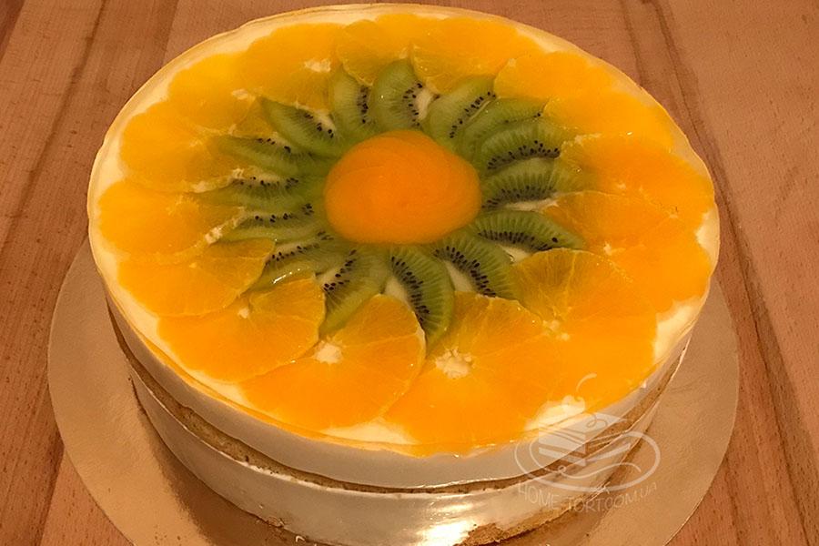 Оформлення торту (декор) простий - класичний - творожний