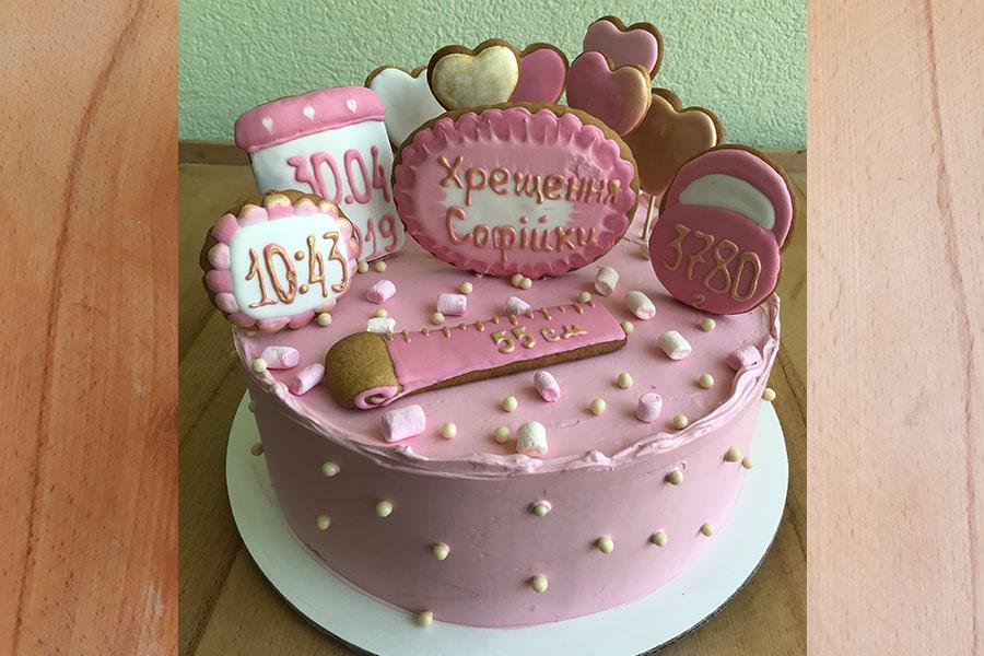 Торт на хрестини | Торт на замовлення