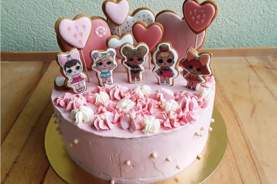 Торт дитячий для дівчинки на День народження