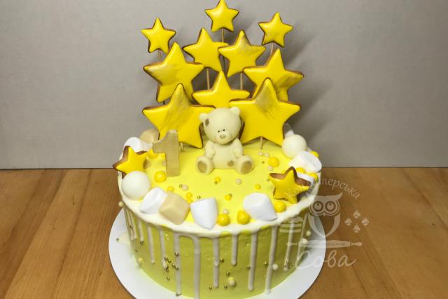 Торт для дівчинки з ведмедиком | Торт на замовлення