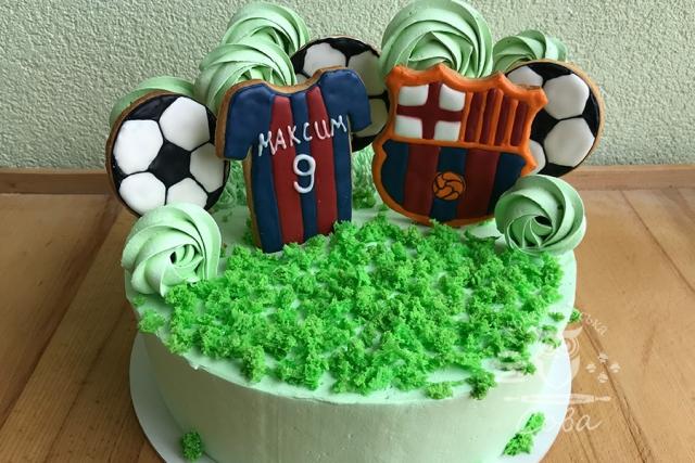 Торт на День народження для хлопчика - Футбольний