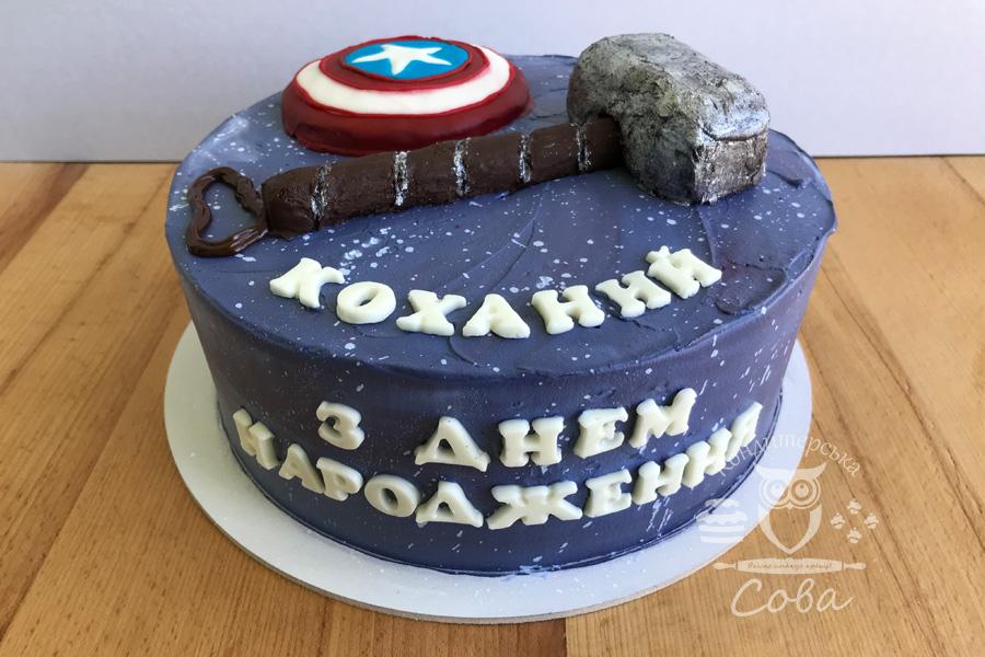 Торт на День народження для хлопчика - Супергеройський