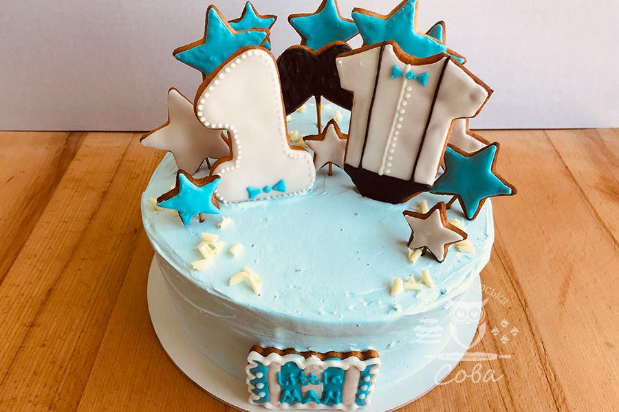 Торт на хрестини для хлопчика замовити