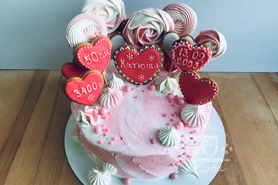 Торт на хрестини для дівчинки замовити