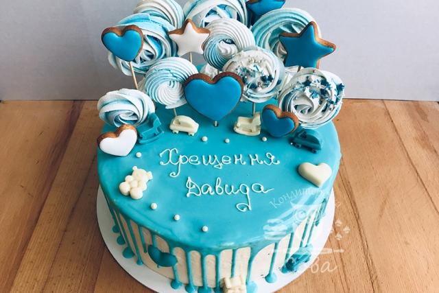 Торт на хрестини для хлопчика замовити Львів