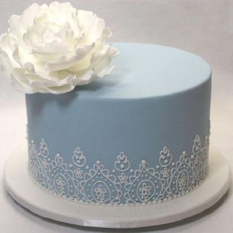 Мереживний вінтажний торт | Тренди дизайну тортів 2018-2019 | Блог | Торт на замовлення