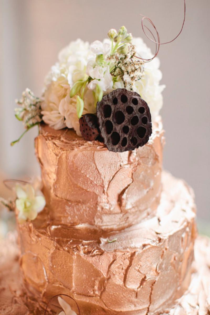 Торт з мідною прикрасою | Тренди дизайну тортів 2018-2019 | Блог | Торт на замовлення