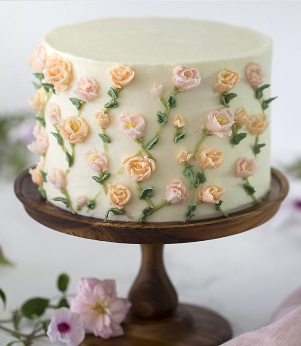 Цукрові квіти | Тренди дизайну тортів 2018-2019 | Блог | Торт на замовлення