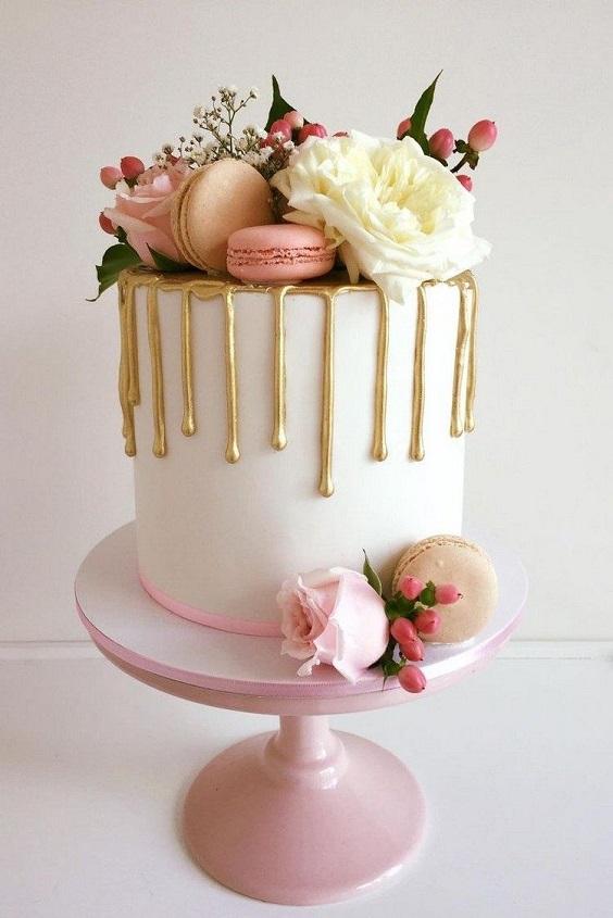 Торт з золотом | Тренди дизайну тортів 2018-2019 | Блог | Торт на замовлення