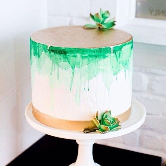 Акварельний торт | Тренди дизайну тортів 2018-2019 | Блог | Торт на замовлення