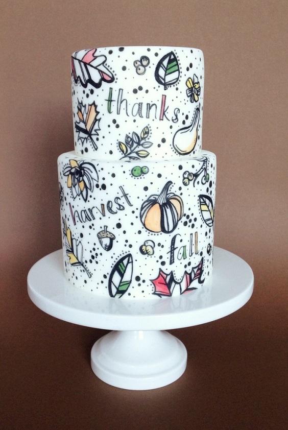 Торт з розписом | Тренди дизайну тортів 2018-2019 | Блог | Торт на замовлення