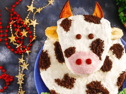 Торт у вигляді бичка на Новий рік | Торт на замовлення у Львові