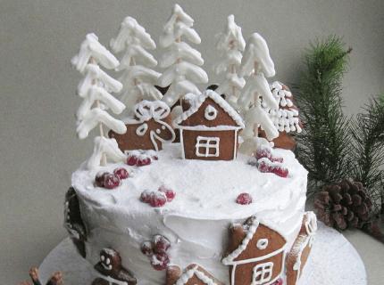 Декор торту на Новий рік ялиночками | Торт на замовлення у Львові