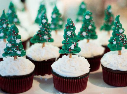Капкейки на новорічний корпоратив | Торт на замовлення у Львові