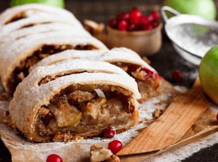 Штрудель на новорічний корпоратив | Торт на замовлення у Львові